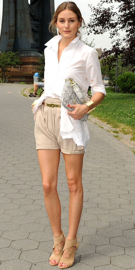 Shorts and cage heels