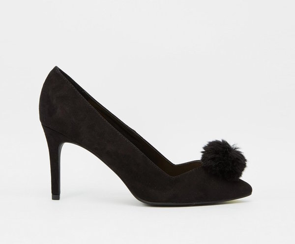 New look pom pom heels, $ 41