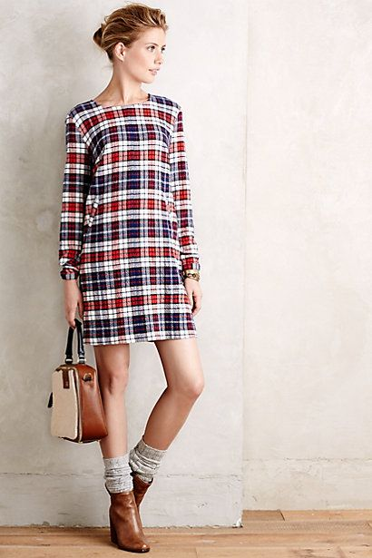 Tartan dress and ankle dress