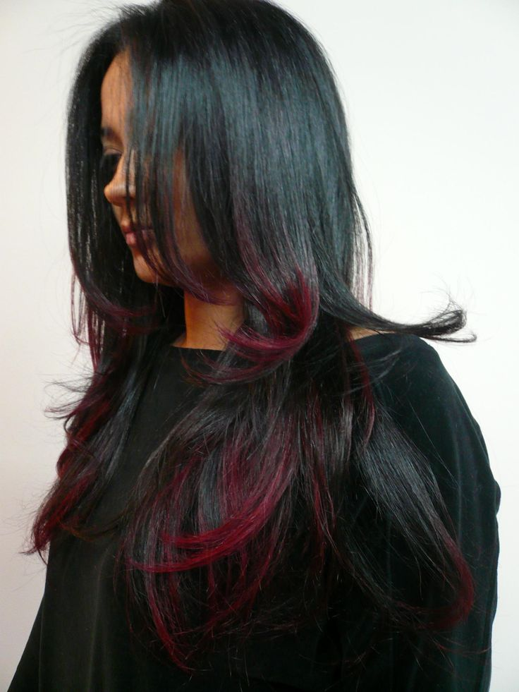 Pretty hairstyles for black hair: flame look