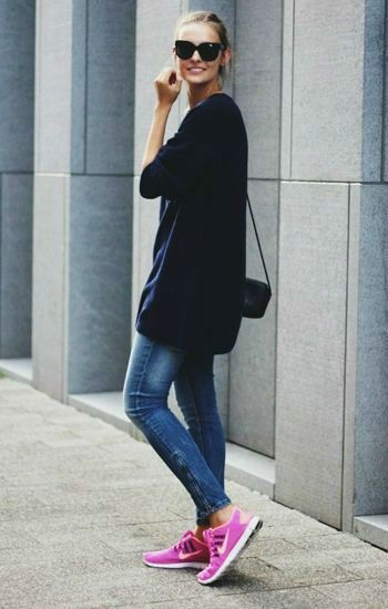 Cool look with sneakers