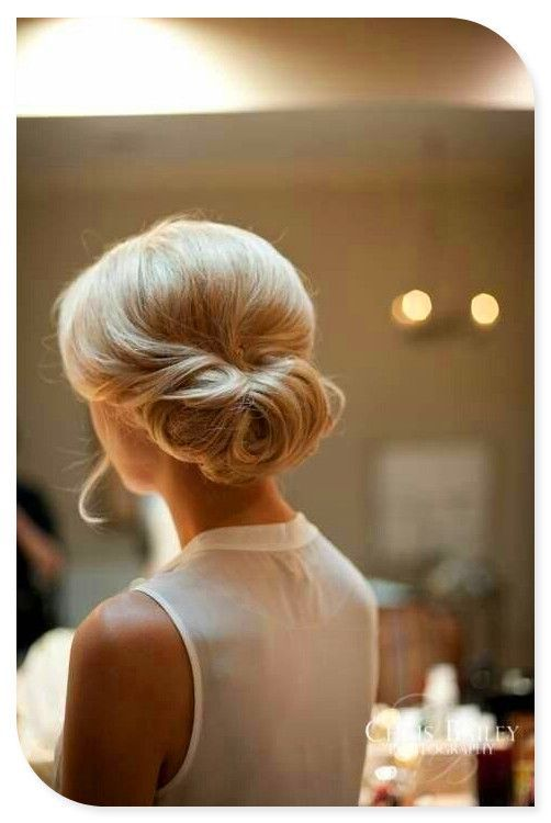 Simple updo for weddings