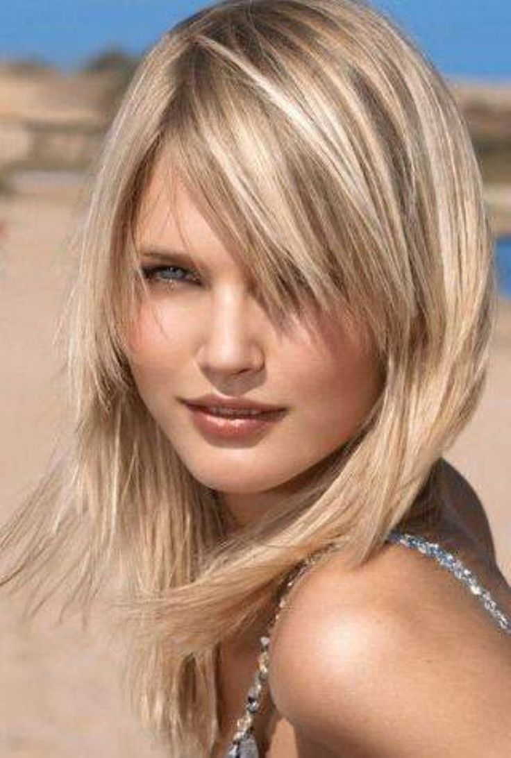 Feminine medium length haircut for thin hair
