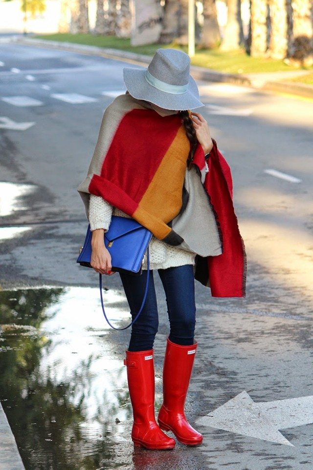 Rainy boots with a cloak