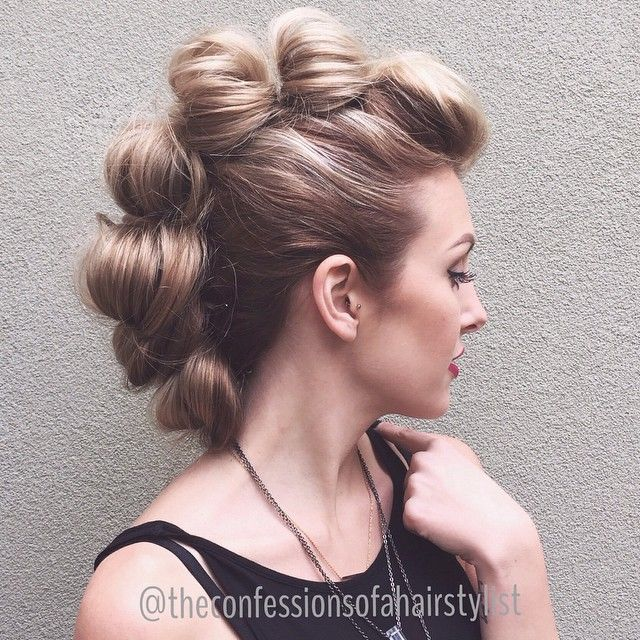 Faux Hawk French updo hairstyle