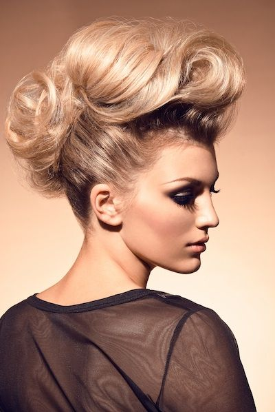 Faux Hawk updo hairstyle for women