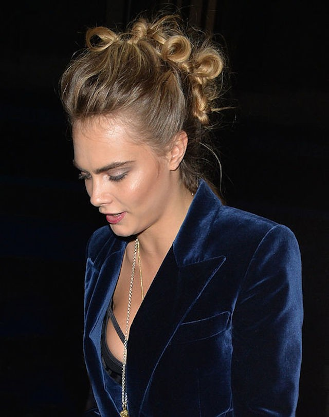 Cara Delevingne Knotted Faux Hawk Hairstyle