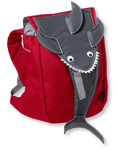 L.L. Bean Firey Red Shark backpack, $ 35