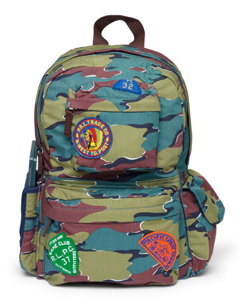 Ralph Lauren camouflage backpack, $ 55