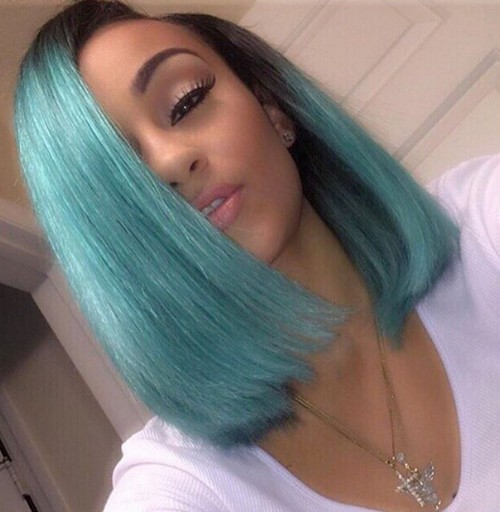 Straight bob hairstyle