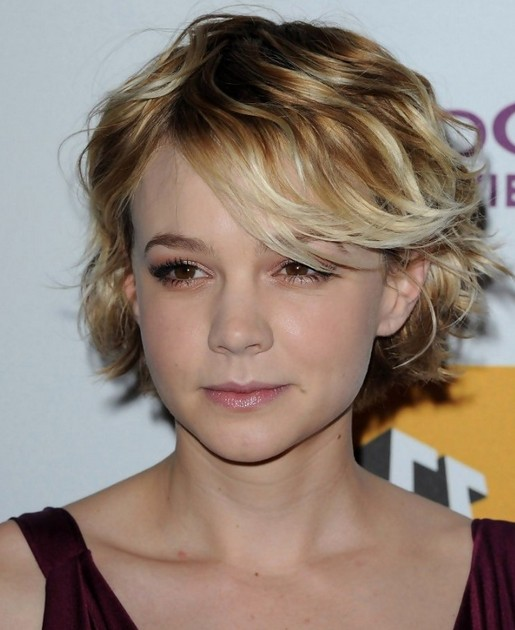 2014 short hairstyles for curly hair with bangs