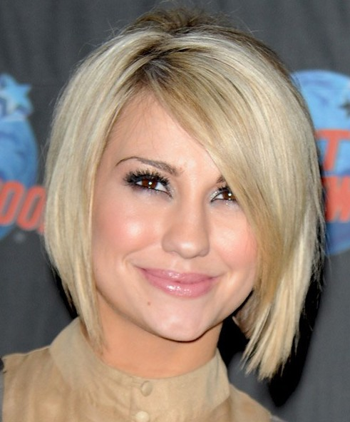 2014 short blonde bob hairstyle for women by Chelsea Kane
