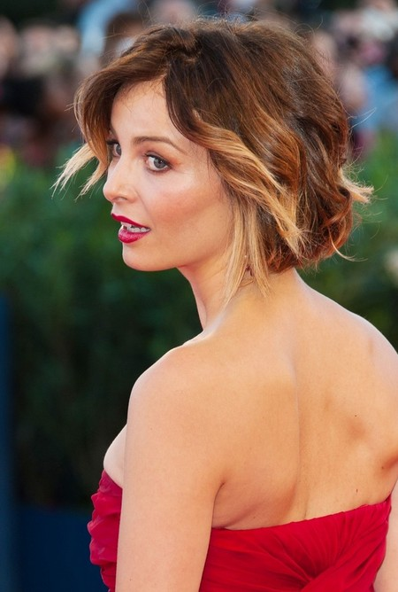 Violante Placido Short Ombre Hair 2015 - Ombre Hair Color Ideas
