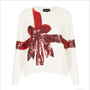 Topshop & # 39; Present & # 39; Sequin embellished sweater