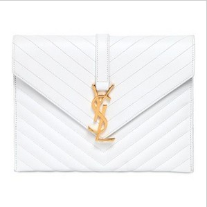 Monograms Saint Laurent white leather bag