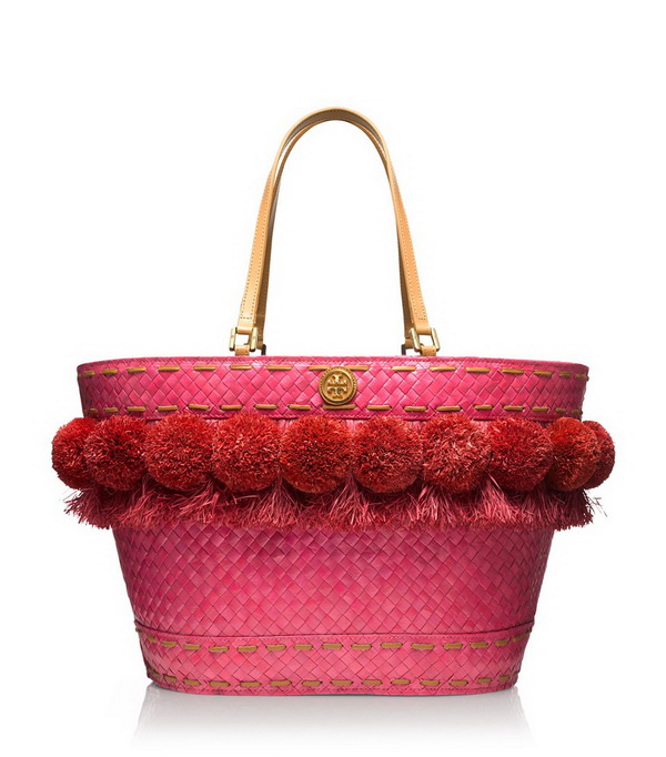pink tote with cute decoration