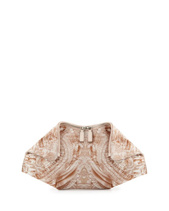 Alexander McQueen De-Manta clutch with lace pattern