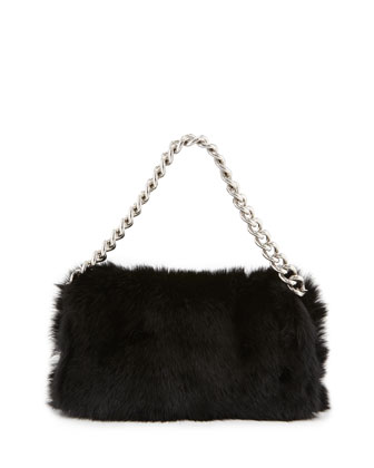 Alexander McQueen clutch made of pleated fur