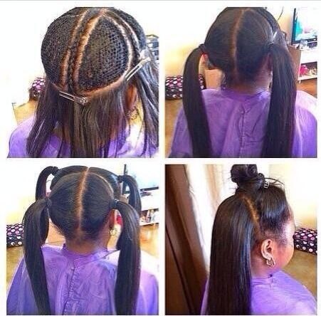 "Creative black hairstyle for little girls ""width ="" 400"
