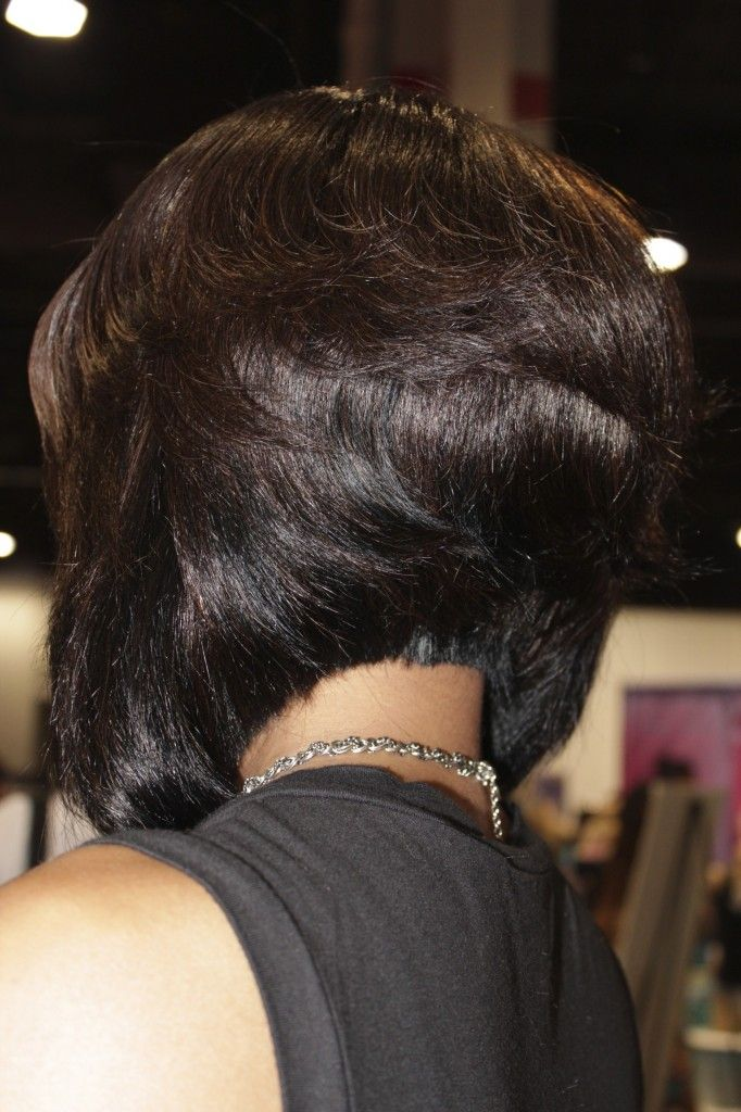 """Stacked bob for black hairstyles """"width ="""" 400"""