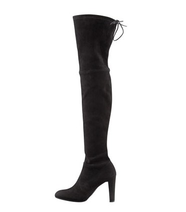 Stuart Weitzman Highland Stretchy Over The Knee Boots, black