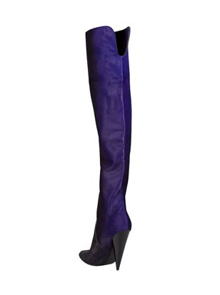 Rear view of Tom Ford Ombre calf hair over the knee boots
