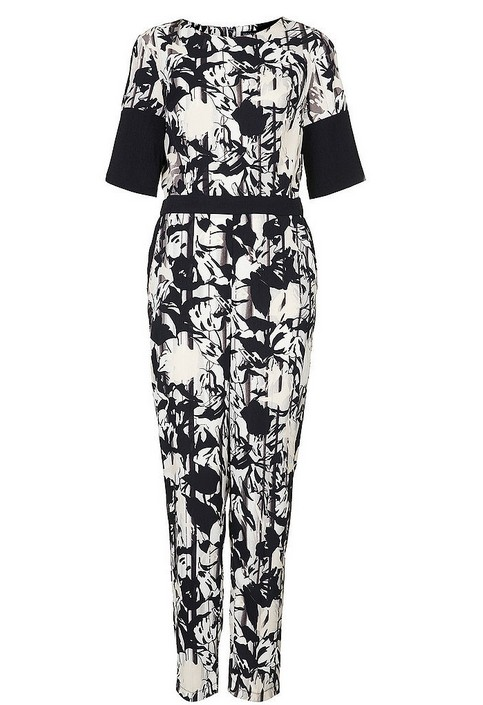 Topshop flower overall