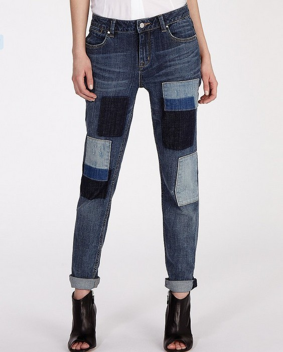 Karen Millen Jeans Patched Denim Collection