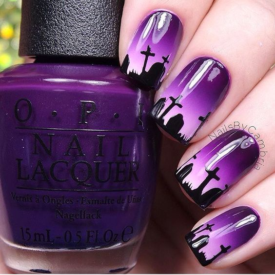 Grab Halloween nails over