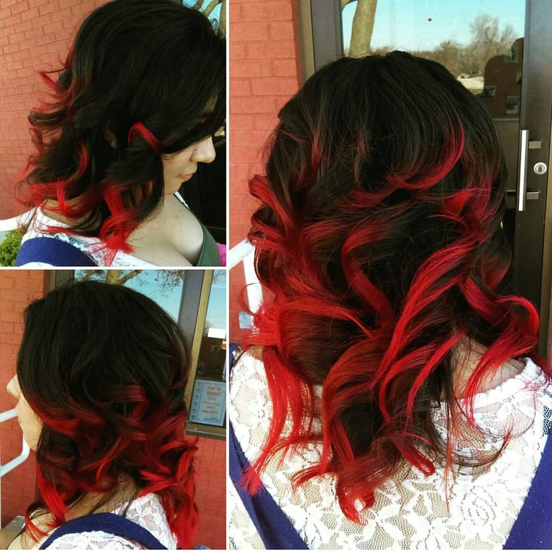 Hair color trends for 2018: red ombre hairstyles