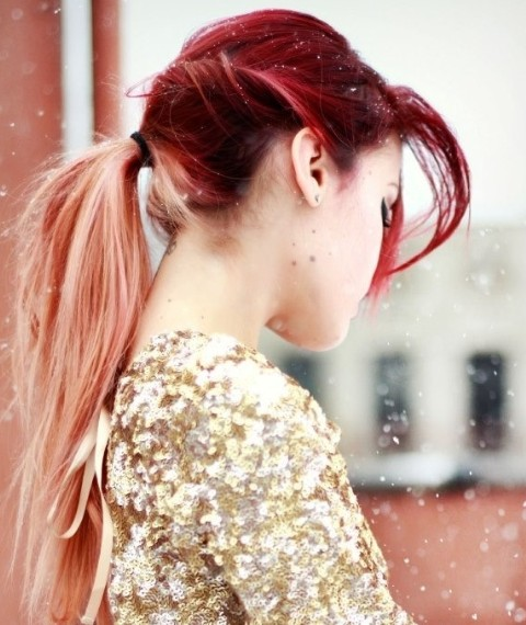 Various red ombre hair