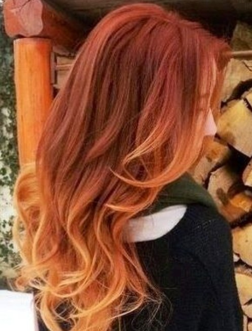Ombre hair for soft waves