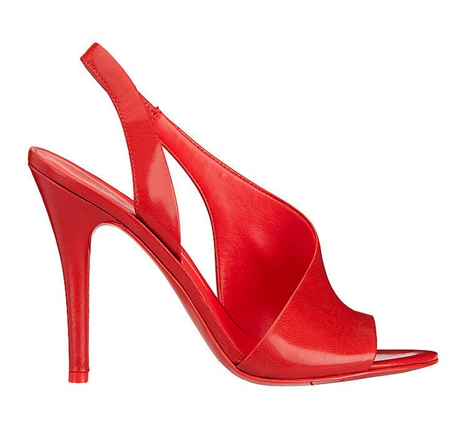 Red leather sandal ($ 89)