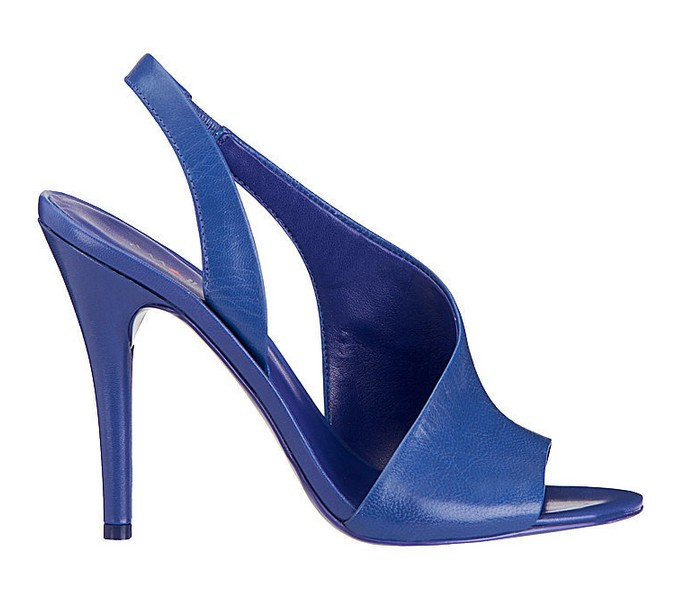 Blue leather sandal ($ 89)