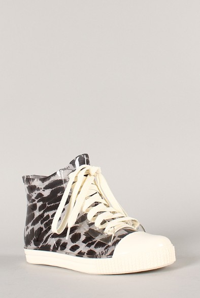 Side view of the Jelly Leopard lace-up sneaker