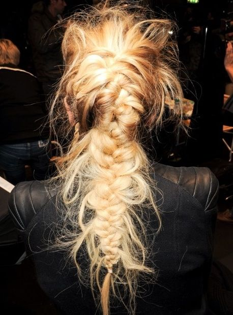 Weekend Hairstyle - Messy Braided Hair