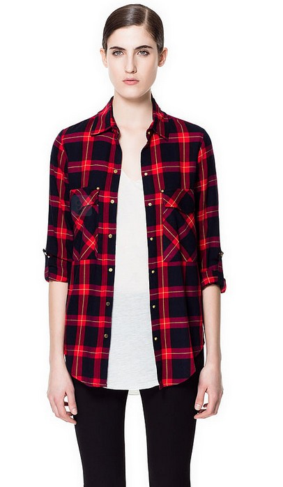 Zara's plaid shirt ($ 60)