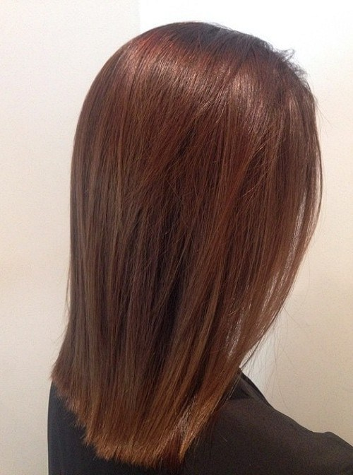 Red and brown straight hair