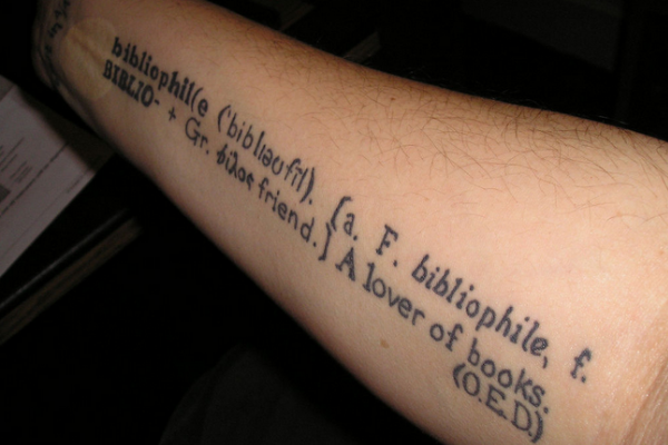 Dictionary definition tattoo