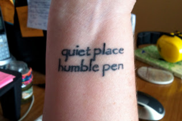 Writer quote tattoo