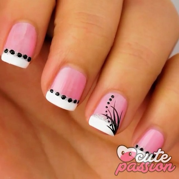French Mani Pink Nails