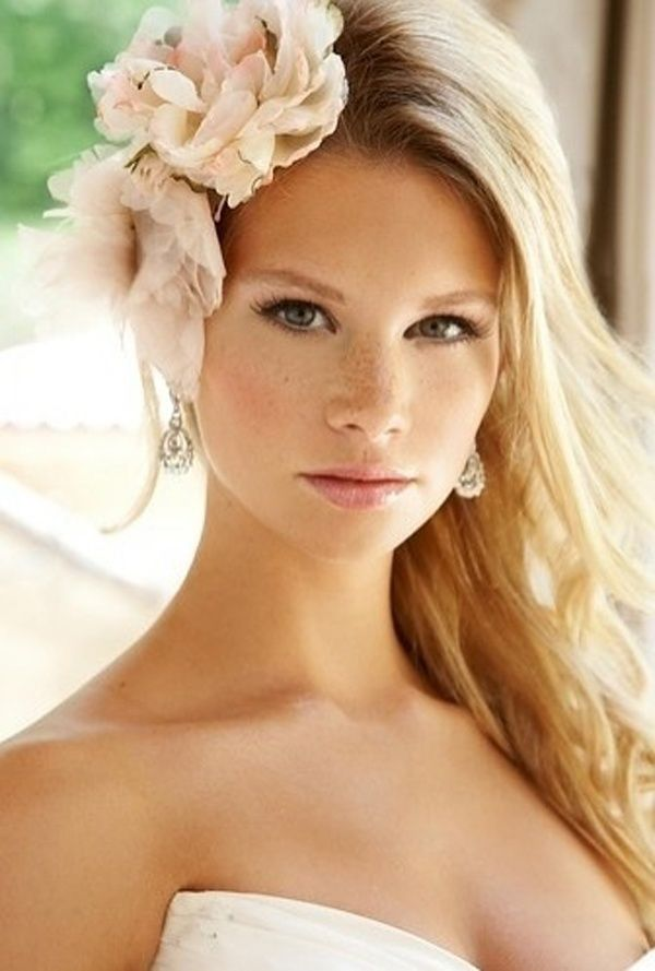 Boho-chic half up half down wedding hairstyle