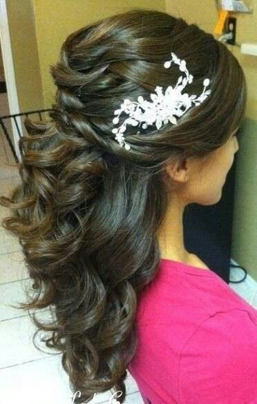 Half Up Half Down Wedding Hairstyle for Black Hair