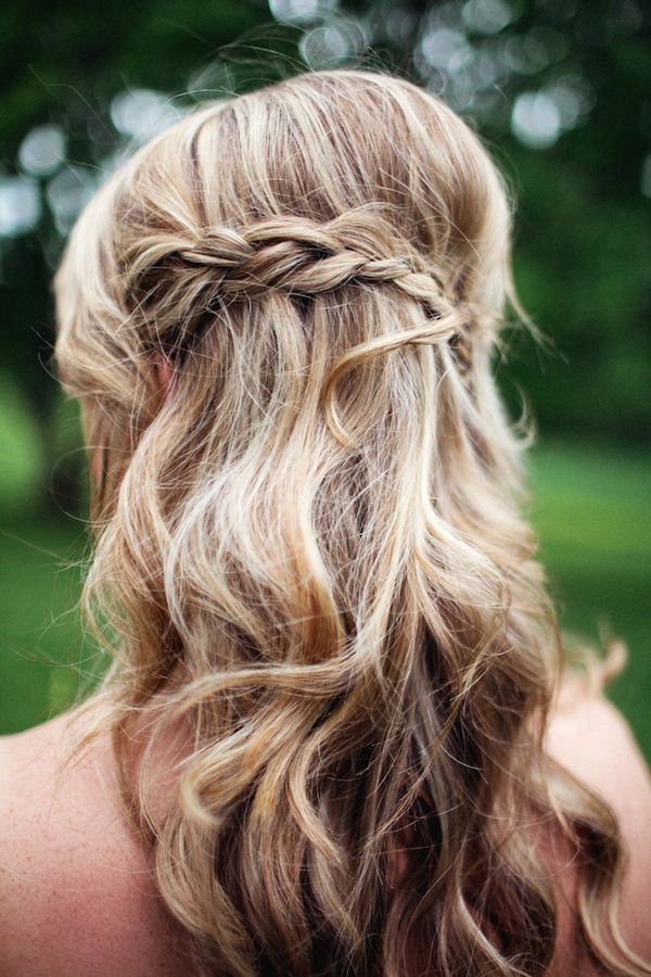 Half Up Half Down Wedding Hairstyle with Braid