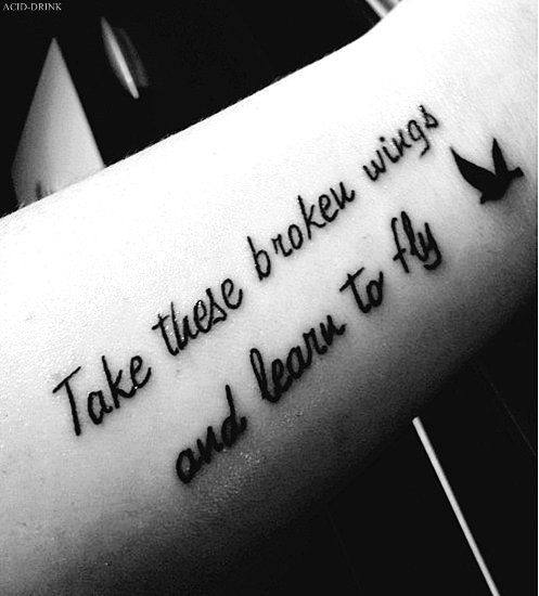 20 girls quote tattoos you can love