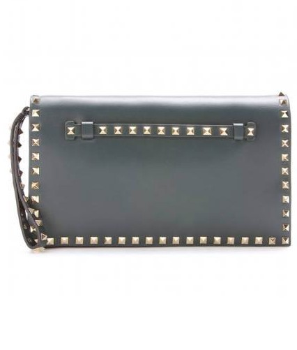 Fashionable clutch: Valentino Rockstud leather clutch, $ 1,495