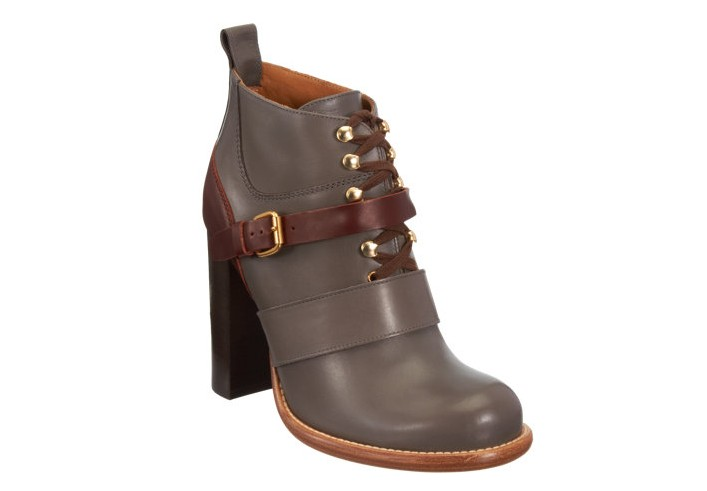Chloé lace-up ankle boot with belt