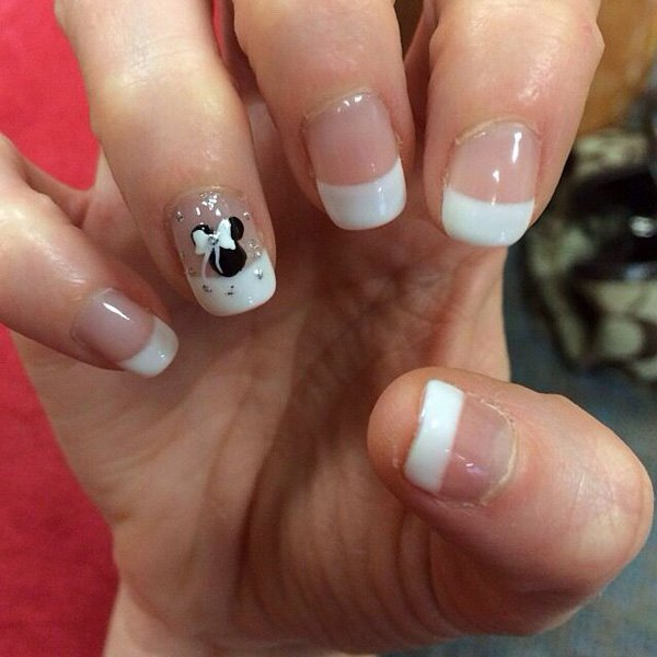 French manicure wedding nail design