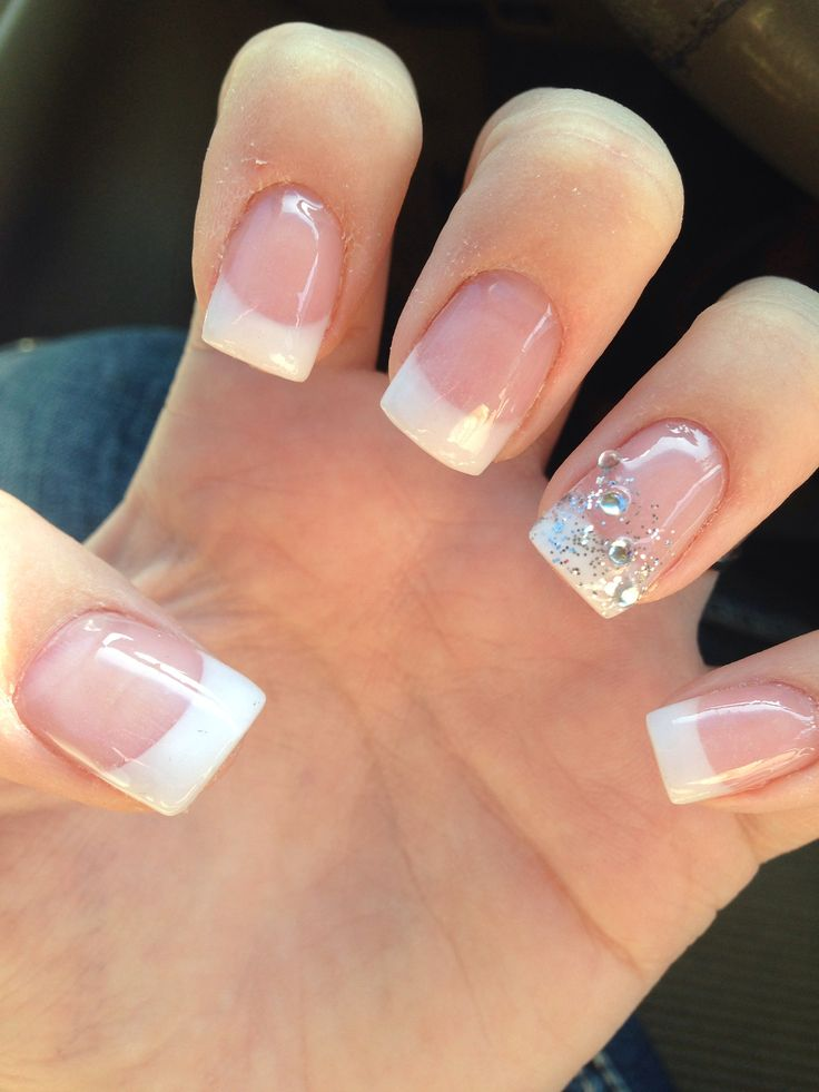 Perfectly decorated wedding nails