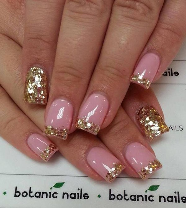 Pink french mani nails